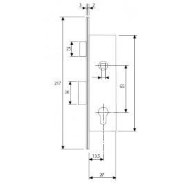 Cerradura TESA 2200/15 Deslizante