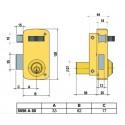 Cerradura LINCE 5056-AHE-Derecha 60