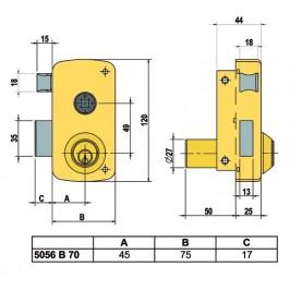 Cerradura LINCE 5056-BHE Izquierda 70