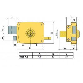 cerradura lince 5125-AHE-I 80