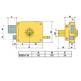 cerradura lince 5125-AHE-D 100