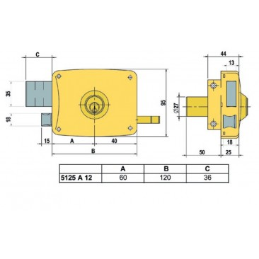 cerradura lince 5125-AHE-I 120