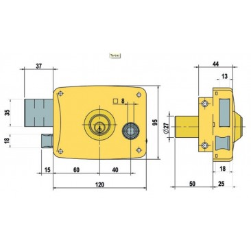 cerradura lince 5125-B-D 120