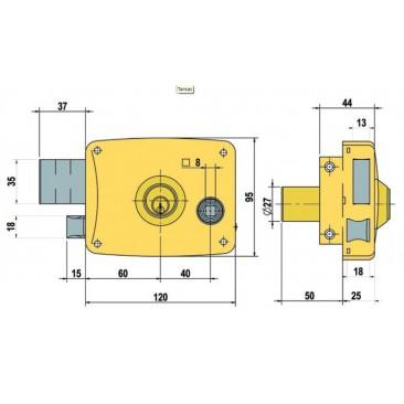 cerradura lince 5125-B-I 120