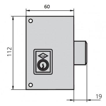 Cerradura CVL 56C 60 Izquierda