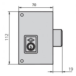 cerradura cvl 156C70-D