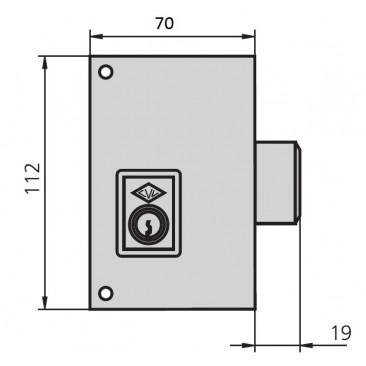 cerradura cvl 156C70-I