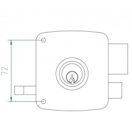 cerradura mcm 2525P-80-I