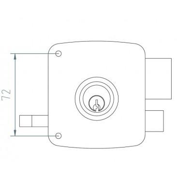 Cerradura MCM 2525PR 100 Derecha