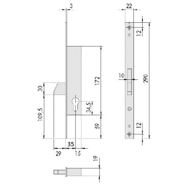 cerradura CISA 46210-35