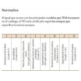 Cilindro TESA 5030 30x50 Niquelado Leva larga