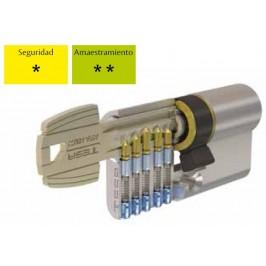 Cilindro TESA 5030 30x10 Niquelado Leva larga BOTÓN