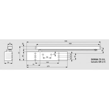 Muelle DORMA TS-93 Sin Retención BLANCO