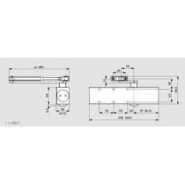 Muelle DORMA TS-83 Con Retención PLATA