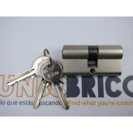 Cilindro F5 ISEO 30x30 Leva Corta Niquelado