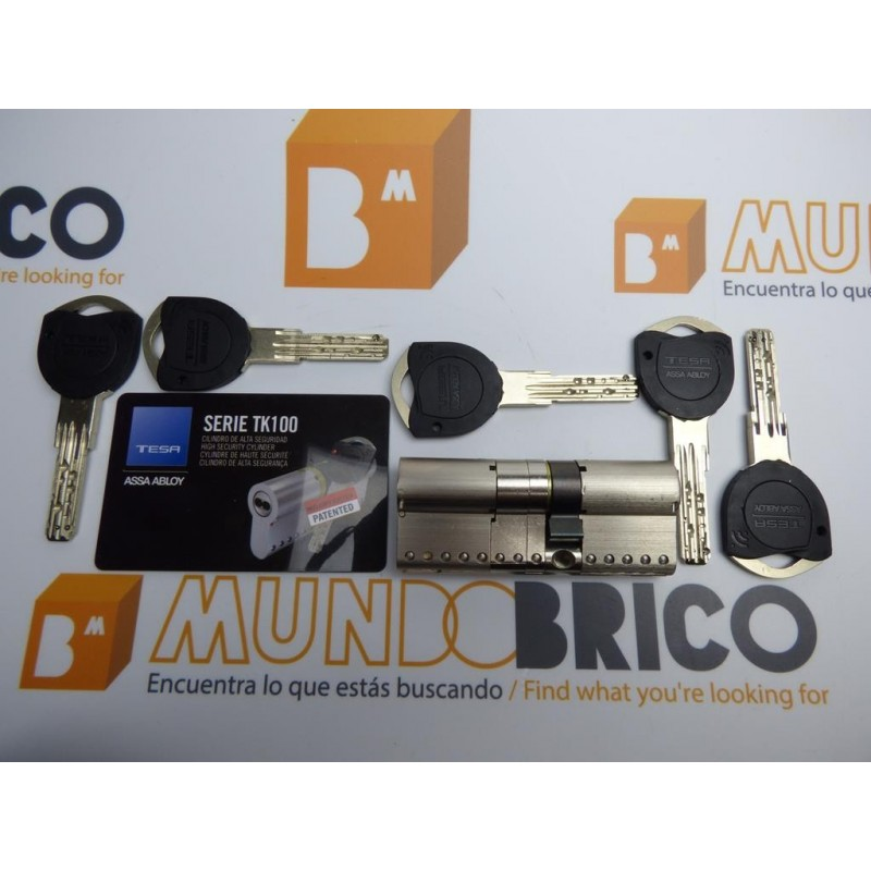 Cilindro TESA TK-100 40x50 Niquelado Leva larga