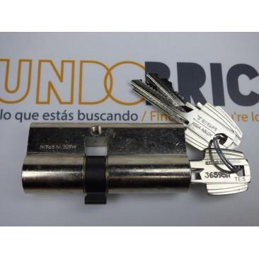 Cilindro TESA 5200 40x50 Niquelado Leva corta