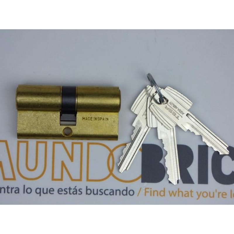 Cilindro TESA 5200 50x50 Latón Leva corta