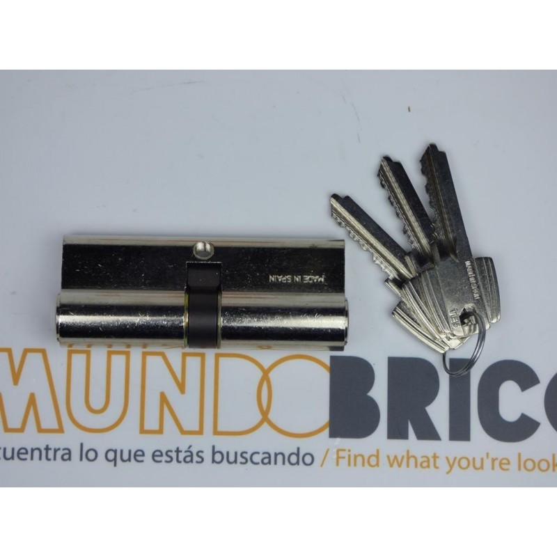 Cilindro TESA 5030 40x40 Niquelado Leva larga