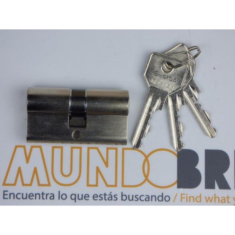Cilindro CISA C2000 35x35 Niquelado Leva Larga