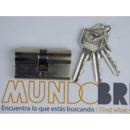 Cilindro CISA C2000 40x40 Niquelado Leva Larga