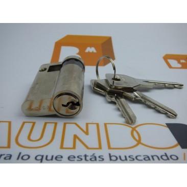 Cilindro CISA C2000 30x10 Niquelado Leva Larga