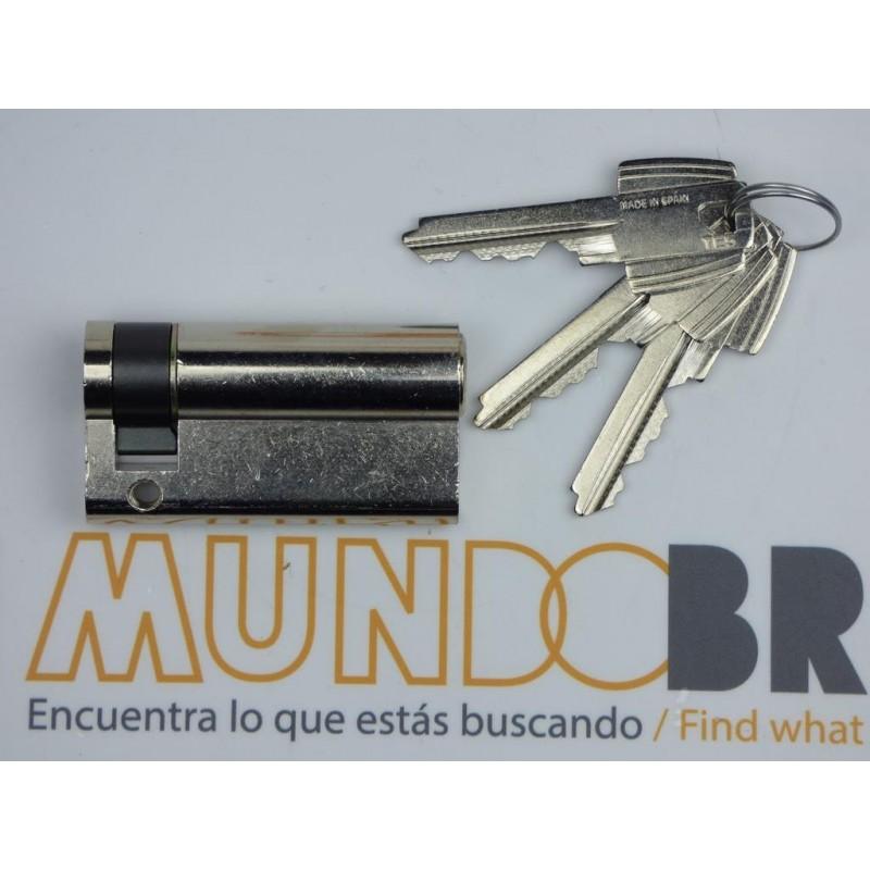 Cilindro TESA 5200 40x10 Niquelado Leva corta