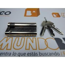 Cilindro TESA 5200 50x10 Niquelado Leva corta