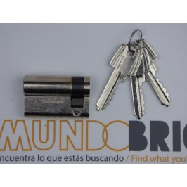 Cilindro TESA 5030 50x10 Niquelado Leva larga