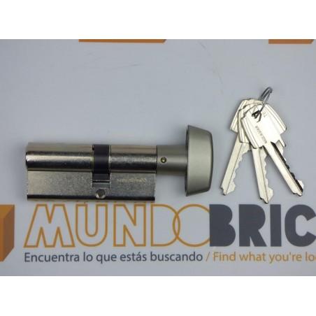 Cilindro TESA 5200 30x30 Niquelado Leva corta BOTÓN