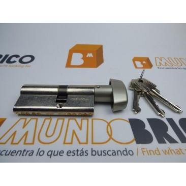 Cilindro TESA 5200 30x40 Niquelado Leva corta BOTÓN