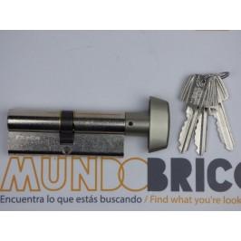 Cilindro TESA 5030 40x40 Niquelado Leva larga BOTÓN