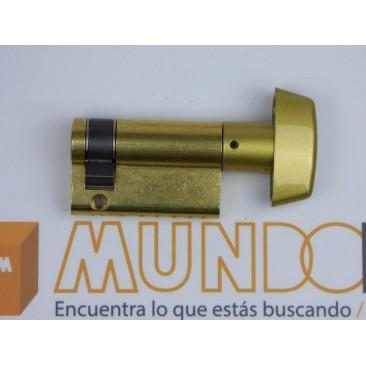 Cilindro TESA 5030 40x10 Latón Leva larga BOTÓN