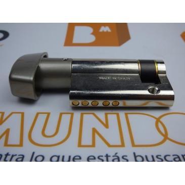 Cilindro TESA 5030 40x10 Niquelado Leva larga BOTÓN