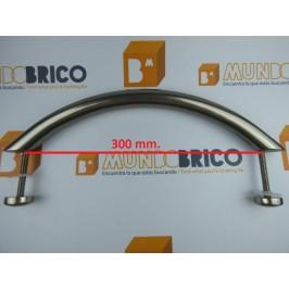 Tirador Individual ARCO RECTO 350 Anodizado Inox