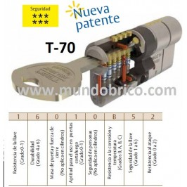Bombillo TESA T-70 30x40 Latón Leva larga