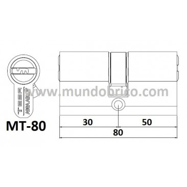 Cilindro tesa mt80 3050 latonado leva baja