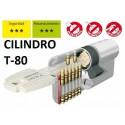 Medio cilindro seguridad tesa mt80 4010 plateado leva corta