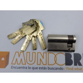 Cilindro TESA MT-80 40x10 Niquelado Leva Corta