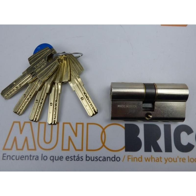 Cilindro TESA MT-80 50x50 Niquelado Leva Corta