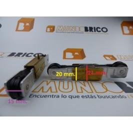 Rueda tándem metálica TT24/5C Pabose s300