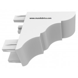 Remate Pérgola Aluminio 80x40 BLANCO