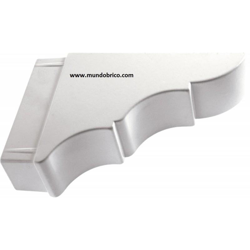Remate Pérgola Aluminio 100x40 BLANCO