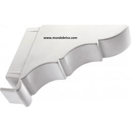 Remate Pérgola Aluminio 120x40 BLANCO