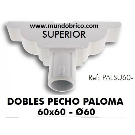 Doble Pecho Paloma Superior Aluminio 60x60 BLANCO