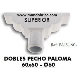Doble Pecho Paloma Superior Aluminio diámetro 60 BLANCO
