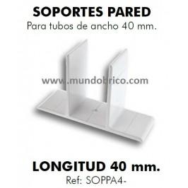 Soporte de pared pérgolas de 40mm. BLANCO