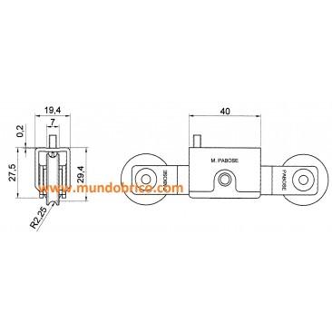 rueda tanden metal ref T 1002/1tl