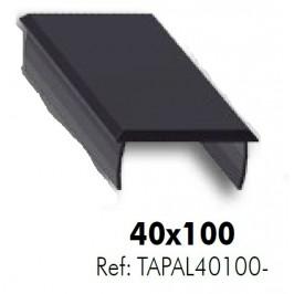 Tapa de aluminio para perfil 40x100 ALUMABE