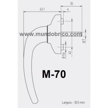 Manilla o cremona PVC M-70 Blanco